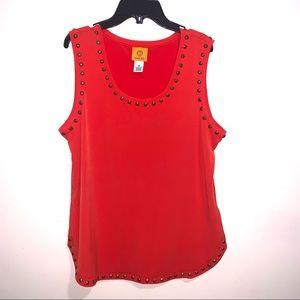 🌷5/$20 Ruby Rd. Women's Orange Tank Top